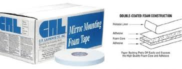 White foam mounting tape